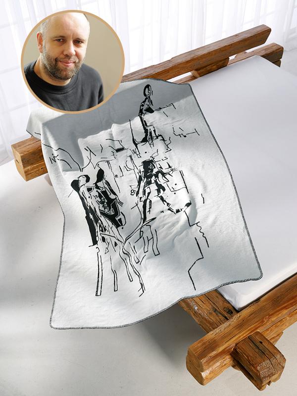 Kuscheldecke Kunstkolter Bleckmann auf dem Bett